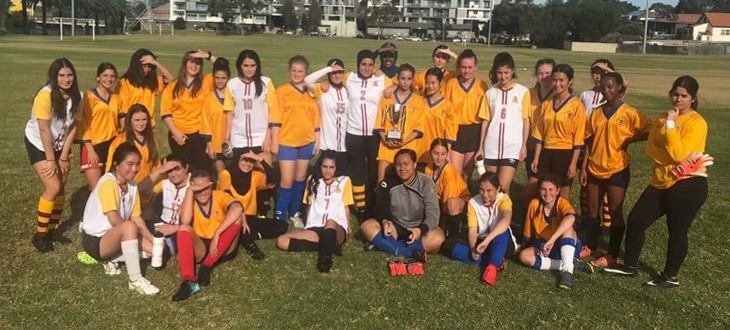 Girls Knockout Football team narrowly going down in the annual Kogarah-Canterbury Cup 5-4